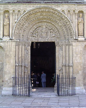 Rochester Cathedral - The cathedral's Great West Door, with stonework substantially unaltered since Ernulf's time