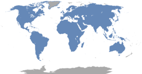 Combined range of all rodent species