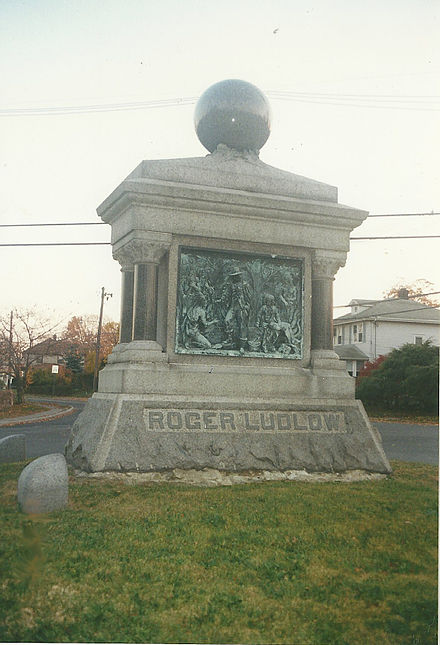 Roger Ludlow Monument in East Norwalk Roger Ludlow Monument.jpg