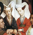 Rogier van der Weyden- Seven Sacraments Altarpiece - Baptism, Confirmation, and Penance; detail, baptism.jpg