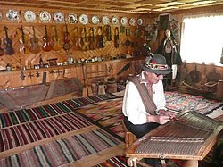 Roman Kumlyk, owner of Museum of Musical Instruments and Hutsuls Lifestyle in Verkhovyna, Western Ukraine.jpg