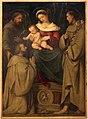 Romanino, madonna in tro no col bambino tra i ss. francesco, antonio da padova e un donatore, 1528-29 circa 01.JPG