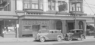 Aurora Hotel (Worcester, Massachusetts) - Rora Bar in the Roaring 20s at the Aurora Hotel in Worcester, MA. This place had a big jazz scene.