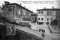 Roussillon, le vieux chateau où Charles IX signa en 1564 l'édit qui fixa au 1er jan le commencement de l'année, 1913, p178 de L'Isère les 533 communes - B F Paris.jpg