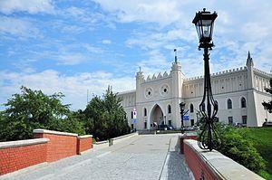 Lublin - Neogothic façade of Lublin Castle