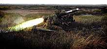 Royal Marines of 40 Commando firing a FGM-148 Javelin anti-tank missile.
