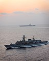 Royal Navy Type 23 Frigate HMS St Albans on Exercise with USS George W Bush MOD 45153209.jpg