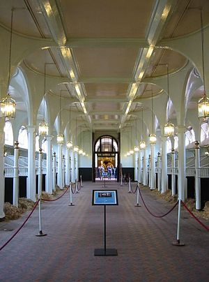Stables in the Royal Mews. Photograph taken by...