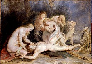 Venus mourning Adonis