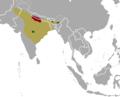 Rucervus duvaucelii range map.png