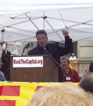 Russ Diamond - Russ Diamond at an anti-pay raise rally in front of the Pennsylvania Capitol
