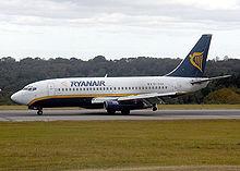 La vecchia livrea della Ryanair, vettore a basso costo