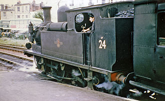 LSWR O2 class - Ex-LSWR O2 class 0-4-4T at Ryde Esplanade in 1965