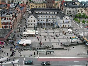 Södermalm - Ryssgården square at the Slussen area, Södermalm.