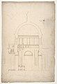 S. Pietro in Montorio, Tempietto, section (recto) blank (verso) MET DP810837.jpg
