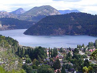 San Martín de los Andes - View of the city's coast facing the Lácar Lake