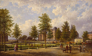 View of the Rijksmuseum from the Weteringschans