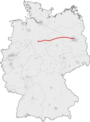 Hanover–Berlin high-speed railway - Image: SFS Hannover Berlin
