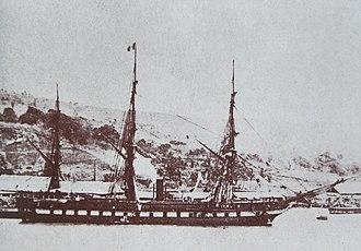 SMS Novara (1850) - Image: SMS Novara 1864 Martinique