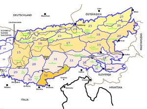 Venetian Prealps - Image: SOIUSA Alpi Orientali sezione 32