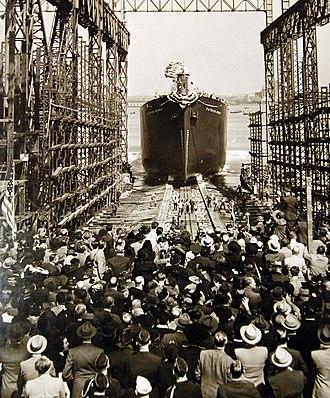 SS Patrick Henry - Patrick Henry launching on Liberty Fleet Day
