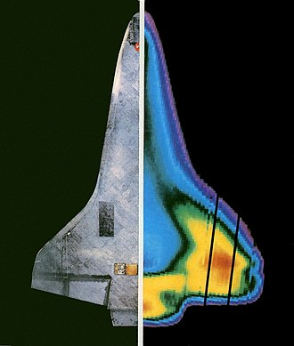 Infrared - Thermography helped to determine the temperature profile of the Space Shuttle thermal protection system during re-entry.