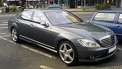 A Mercedes-Benz luxury sedan is an example of a status symbol in the United States, as luxury vehicles are perhaps the most common status symbol found in western culture.