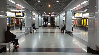 Ximenkou station (Guangzhou Metro) - Image: Sai Mun Hau Zaam Platform