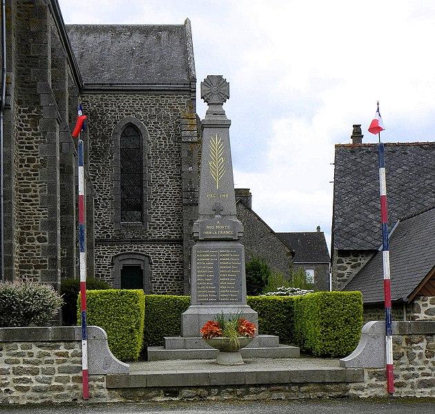 Monument aux morts de Saint-Mars-sur-Colmont (53).