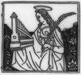 Saint Cecilia holding her emblems- portable organ and martyr's palm LCCN2007681106.tif