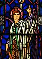 Saint Joseph Church (Monroeville, Ohio) - stained-glass, detail of St. Michael.jpg