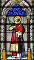 Saint Michael Church (Fort Loramie, Ohio) - stained glass, Saint Lawrence of Rome.jpg