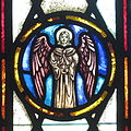Saint Peter Catholic Church (Millersburg, Ohio) - stained glass, Angel of St. Matthew.jpg
