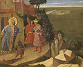 Saint Romuald Forbidding Entry to the Monastery to Emperor Otton III - Fra Angelico - KMSKA.jpg