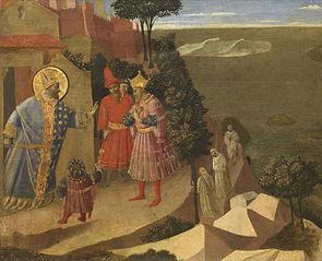 Saint Romuald Forbidding Entry to the Monastery to Emperor Otton III