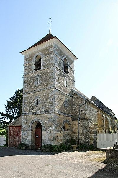 Façade de l'église de Sainte-Vertu