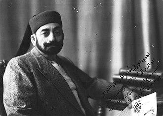 Muhammad VII al-Munsif - Moncef Bey at Pau, 5 October 1947