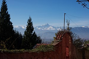 Juan de Canaveris - Partial view of the Alps (Saluzzo)