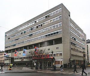 Ove Bang - Samfunnshuset, Arbeidersamfunnets plass, Oslo, Norway. Erected 1934-1941.  Architect: Ove Bang