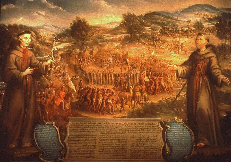 The Destruction of Mission San Sabá in the Province of Texas and the Martyrdom of the Fathers Alonso Giraldo de Terreros, Joseph Santiesteban