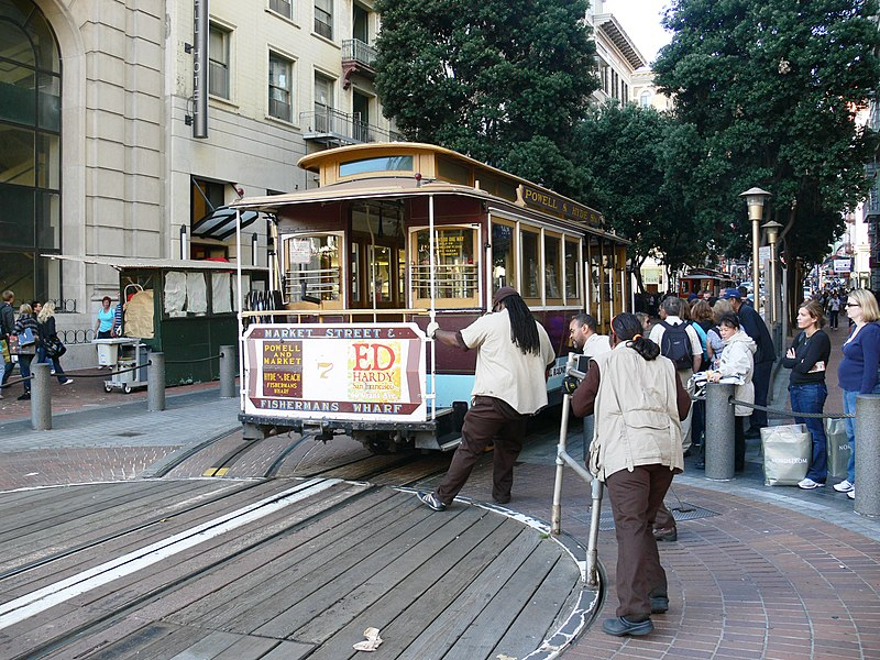 File:San Francisco Market Street cablecar turntable.jpg