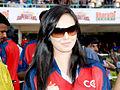 Sana Khan at CCL match, India.jpg