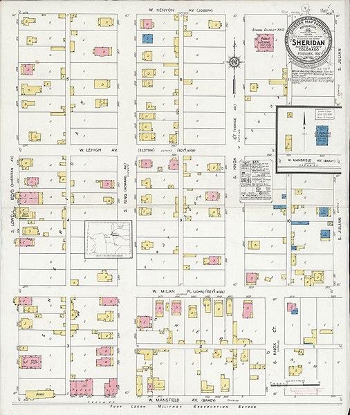 Sheridan Colorado Map.File Sanborn Fire Insurance Map From Sheridan Arapahoe County