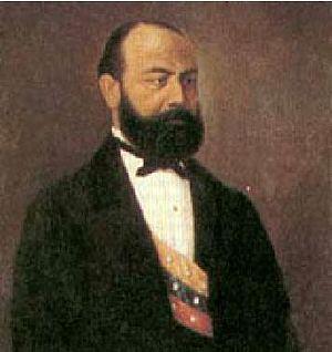 Santiago Pérez de Manosalbas - Oil painting of Santiago Pérez as President.