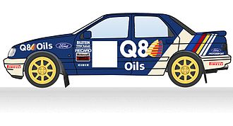 Ford World Rally Team - 1990 Q8 Ford livery