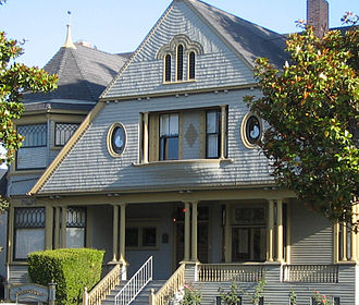 Salinas, California - Sargent House, a historic Victorian home on Central Avenue