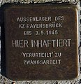 Sassnitz, Weddingstr. 12, Stolperstein für das Aussenlager des KZ Ravensbrück.jpg