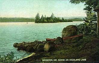 Bridgton, Maine - Image: Scene on Highland Lake, Bridgton, ME
