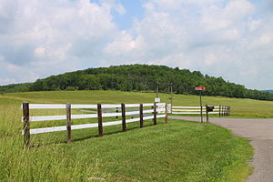 Monroe Township, Wyoming County, Pennsylvania - Fields, hills, woods, and a fence in Monroe Township, Wyoming County, Pennsylvania
