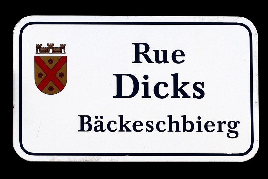 Stroosseschëld zu Munneref.